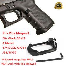 Aluminum Metal Flared Magwell Fits Glock GEN 3 4 Model 17/17L/22/24/31/34/35/37