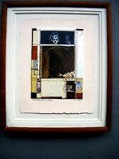 Collage RODERICK ROD SLATER Backdrop for a Fable Signed Framed circa 1983