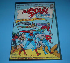 DC COMICS FAMOUS COVERS ALL STAR COMICS JUSTICE SOCIETY OF AMERICA POSTER PIN UP