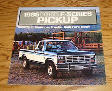 1986 Ford Truck F-Series Pickup Sales Brochure 86 XL XLT Lariat F-150 F-250