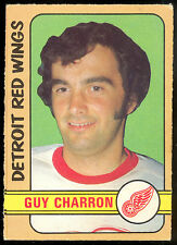 1972 73 OPC O PEE CHEE #223 GUY CHARRON EX+ COND DETROIT RED WINGS HOCKEY CARD