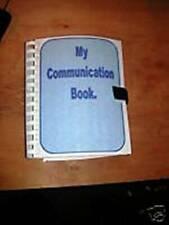 COMMUNICATION+SCHEDULE BOOK FIT IN BAG Autism/Special Needs in matt