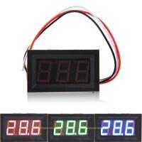 #QZO Mini DC 0-10V RGB LED Panel Digital Display Voltage Meter Voltmeter
