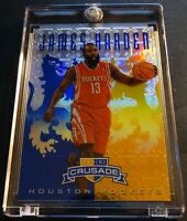 2012 JAMES HARDEN #284 PANINI CRUSADE BLUE PRIZM REFRACTOR ROCKETS (280)