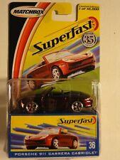 Matchbox Superfast 2004  - PORSCHE 911 CARRERA CABRIOLET Nr 36 NEU-OVP