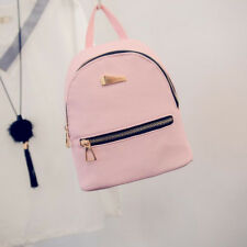 Women Shoulder Bags Female Backpack Zipper PU Leather Girls Travel Pink Bags