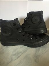Womens Black Mono Converse High Tops Uk Size 4.5