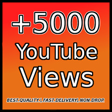 5000 YOUTUBE VIEWS |FAST DELIVERY| |HIGH QUALITY| |NON DROP|