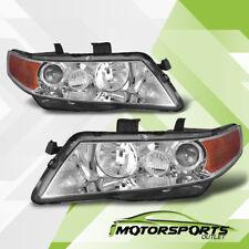 2004 2005 2006 2007 2008 Acura TSX Chrome Projector Headlights Pair