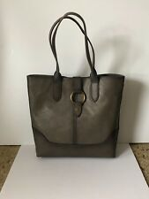 Frye Leather Ring Tote grey 34DB320-GRY