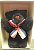 """Vintage Merrythought Ltd Edition 7"""" Black Bear With Tags  - No Certificate"""