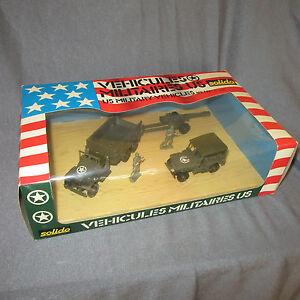 983D Solido 7025 Vehicles Military US Jeep GMC WW2 + Box Boxset