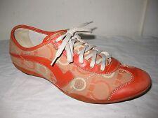 Salvatore Ferragamo Orange Shoes Sneakers Woman's Size 8 C
