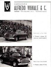 AUTOMOBILE ITALIAN MAG AD VIGNALE FIAT 1949