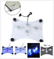 3 Fans LED Light Radiator USB Cooler Cooling Pad Stand For Laptop PC Notebook