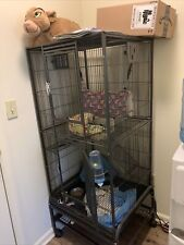 New listing Feisty Ferret Cage, Large - Black Need Gone Asap!Comes Empty.