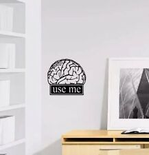 De pared calcomanía pegatina de vinilo-Cerebro-use Me pared calcomanía vinilo Barata decoración pegatinas