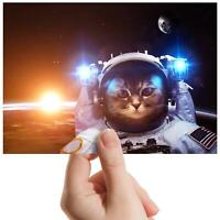 "Astronaut Cat Selfie Space - Small Photograph 6"" x 4"" Art Print Photo Gift #8417"