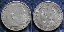 MONETA COIN GERMANIA GERMANY THIRD REICH 5 MARKS 1936°A HINDEMBURG SILBER SILVER