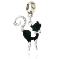 European Silver CZ Charm Beads Fit sterling 925 Necklace Bracelet Chain P#329