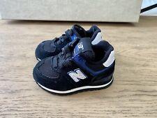 Baby New Balance Shoes Size 4c Classic 574 Style Retro Black Royal Blue