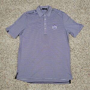 Ralph Lauren Polo Shirt Men Large Tall Purple Striped Golf PGA Championship 2013