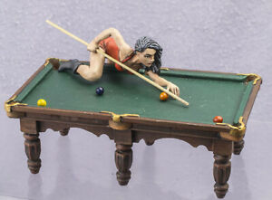tin toy soldiers  54 mm painted sexiest Players on Billiard Snooker Pool Girl-19