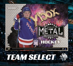 2020-21 Skybox Metal Universe Hockey Hobby Box LIVE BREAK- SELECT TEAM