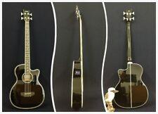 4-String Haze 3/4 Size Black Acoustic Bass Guitar w/EQ,Tuner+Free Gig Bag,Picks