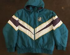 Vintage Fans Gear 90's NHL Anaheim Mighty Ducks Jacket Hooded
