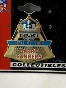 2004 Barry Sanders Detroit Lions HOF Hall of Fame NFL Licensed Pin New Carded
