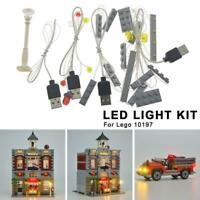 Lighting Kit For LEGO Creator 10197 Fire Brigade (LED LIGHT New ONLY) KIT X7B3