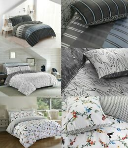 PRINTED 200 THREAD COUNT PRINT DUVET COVER 100% EGYPTIAN COTTON BEDDING SETS UK