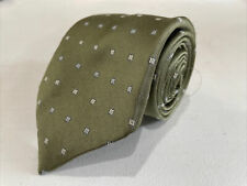 Calvin Klein Men's Green Geometric Pattern Silk Neck Tie $75