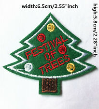 Embroidery Christmas tree On Patch Stickers Badge Embroidered Fabric Applique