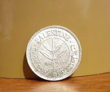 1942 Silver Palestine 50 Mils Coin