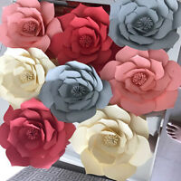 Party Artificial Flower Backdrop Wall Decoration Paper Flowers Rose Flowers