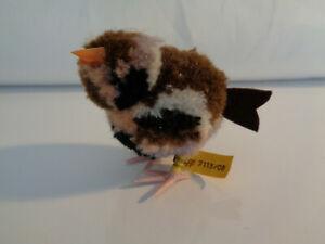 Vintage : Steiff  Woll Miniatur Vogel , KF Nr. 7115/08 , 8 cm