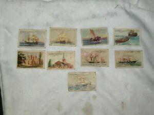 Lot of 9 x Ass't Vintage Atlantic Petroleum Australian Historical Trading Cards