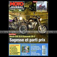 MOTO JOURNAL 1260 NSR 500 V HONDA SLR 650 TRIUMPH 900 SPRINT KAWASAKI ER-5 1997