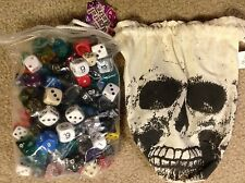 Assorted Polyhedral Pound of Dice (1lb.) w/Skull Bag