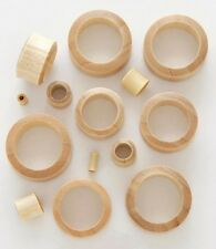 "1 Pair 7/8"" 22mm Blonde Crocodile Organic Solid Wood Tunnels Plugs Ear Gauge 645"