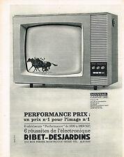 PUBLICITE ADVERTISING  1962   RIBET-DESJARDINS   téléviseur