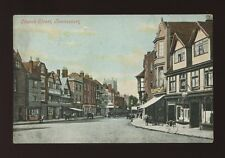 Gloucestershire Glos TEWKESBURY Church St c1900s? PPC by Valentine