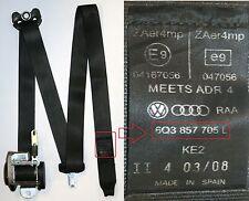 VW Polo Seat Belt Passengers Side Front 2005 3 Door 9N3 2008 Black 6Q3 857 705 L