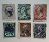 USA 1882 part set used some misperfs see scan of backs