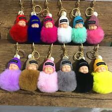 New Cute Sleeping Baby Pendant Key Chain Plush Doll Keychain Car Keyring 0012