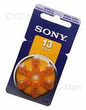 Sony 13 PR48 ZA13 Zinc Air hearing aid batteries x 6 pcs German made FREE ship