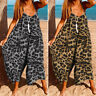 Womens Overalls Sleeveless Beach Dungarees Romper Casual Baggy Playsuit Jumpsuit