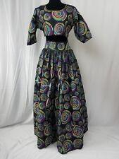 """Women African Ankara Tie Dye Full Maxi Skirt And Crop Top 2pcs Size 16 Waist 40"""""""